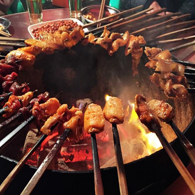 永州火盆燒烤微頁模板